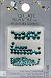 CREATE YOUR STYLE with SWAROVSKI ELEMENTS Flat Back Crystals Value Pack, Emerald and Blue Zircon