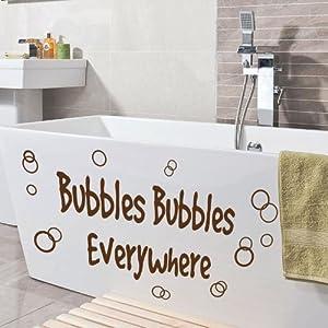 Small bubbles bathroom washroom toilet art quote wall for Bathroom paintings amazon