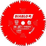Diablo D1260X 12-Inch by 60t 1in Arbor Combination Saw Blade