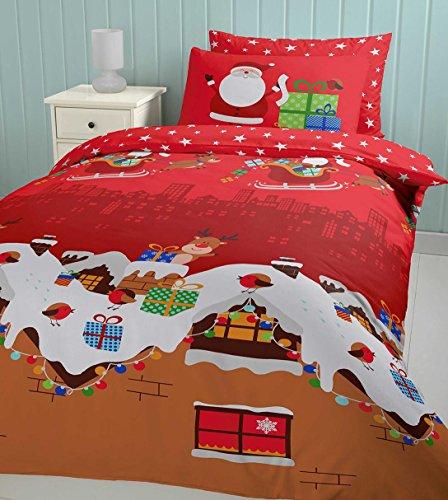Catherine Lansfield Santa's Christmas Present Duvet Set, Double