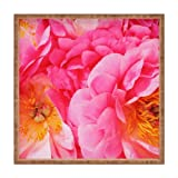 DENY Designs Happee Monkee Hot Peony Square Tray, X-Large, Pink at Sears.com