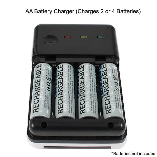 Details about AA and AAA Solar Battery Charger - Charge Your Batteries ...