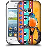 Samsung Galaxy Young S6310 , Kingfisher : Head Case Designs Kingfisher Aztec Birds Hard Back Case For Samsung...
