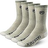 4 Pairs 71% Merino Wool Mens Crew Socks Shoe Size 8-12 Made in USA
