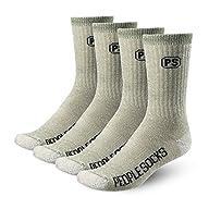 4pairs 71% Premium Merino Wool Crew Socks Made in USA People Socks