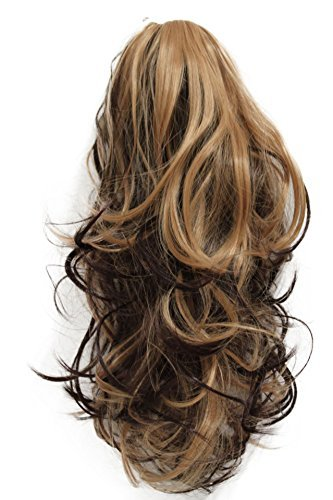 """Prettyshop 14""""Hair Piece Ponytail Extension Straight Light Curled Nature Looking Heat-Resisting Different Colors (Jet Black H88_1)"""