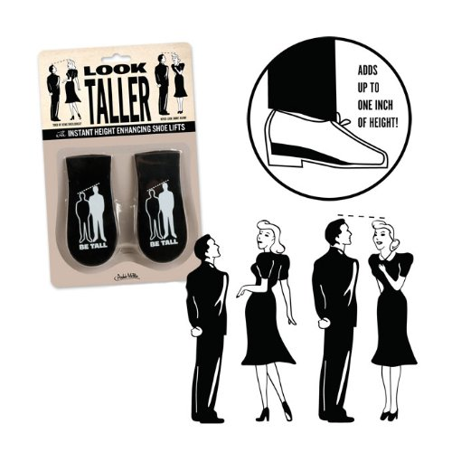 Look Taller Retro Novelty Shoe Lifts - 1