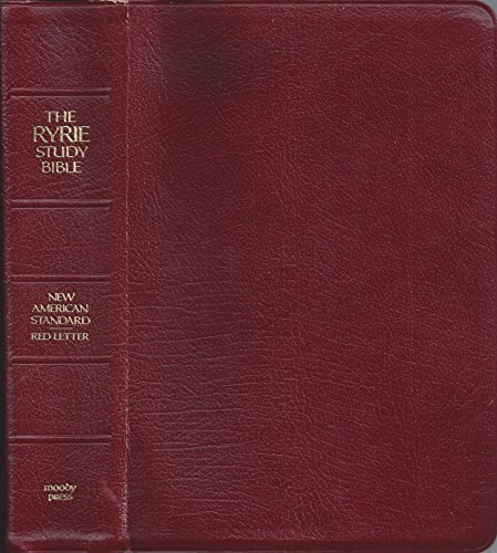 Used gd ryrie new american standard study bible red for New american standard bible red letter edition