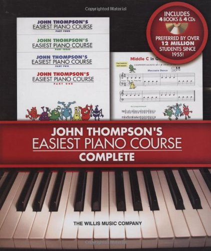 Easiest Piano Course Complete - Boxed Set (Books 1-4 with CD)