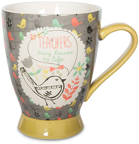 Pavilion Gift Company 74039 Teacher Ceramic Mug, 16 oz, Multicolored