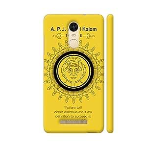 Colorpur A P J Abdul Kalam Quote On Yellow Artwork On Xiaomi Redmi Note 3 Cover (Designer Mobile Back Case)   Artist: Designer Chennai