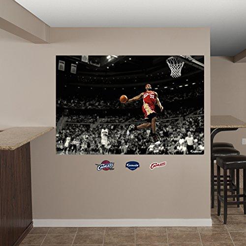 Fathead NBA Cleveland Cavaliers LeBron James Slam Dunk Wall Mural