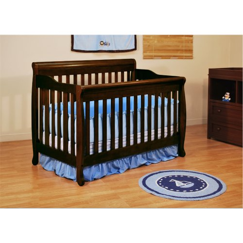 Baby Mile Eve 3-In-1 Convertible Crib - Espresso front-222845