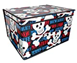 Jumbo Storage Box Room Toy Tidy With Lid Rectangular Beware Keep Out 50 x 30 x 40cm