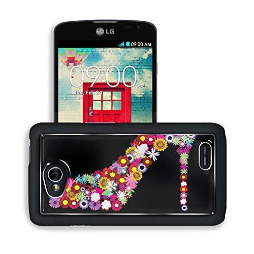 Liili Premium LG Optimus L70 Dual Aluminum Snap Case vector floral female shoe IMAGE ID 9003808