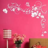 Flower - Wall Sticker / Vinyl Art Transfer / Large Graphic Decor / Floral Decal n21