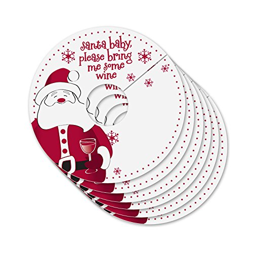 Santa Baby Personalized Wine Glass Tags (Set of 24)