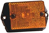 Wesbar 003338 Amber Square Side Marker/Clearance Replacement Marine Light Lens with Screw