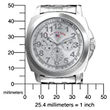 U.S. Polo Assn. Men's US8454EXL Silver Dial Extra Long Silver-Tone Bracelet Watch