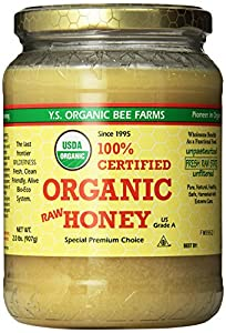 YS Organic Bee Farms Certified Organic Raw Honey 100% Unprocessed, Unpasteurized - Kosher 32oz 2 Lbs Frustration Free Packaging