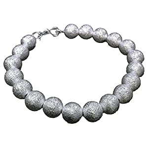 925 Sytle Womens solid silver Jewelry Bead bracelet