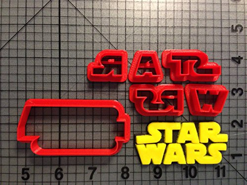 Star Wars Logo Cookie Cutter Set 2 inches
