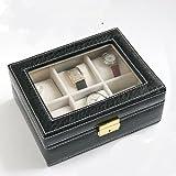 大切な時計をコレクションに 時計コレクションケース ブラック 6本収納 鍵付
