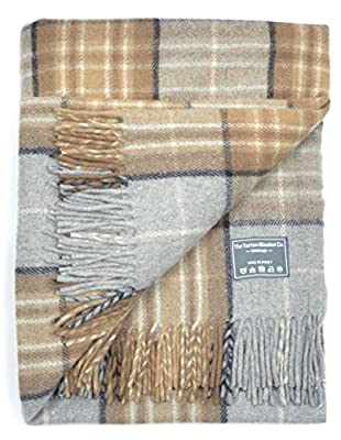Classic Wool Blanket Rug Throw in Mackellar Tartan