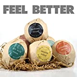 Bath-Bombs-Gift-Set-USA-Made-Organic-Natural-Ingredients-Surprise-Your-Mom-Wife-or-Girlfriend-with-6-Large-Relaxing-Epsom-Salt-Soak-Balls-in-a-Fizzy-Bomb-Pack-with-Lush-Essential-Oils