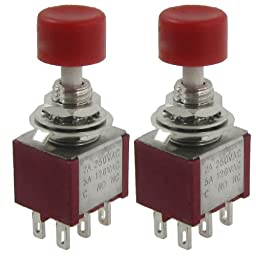 ulincos® latching push button switch u16c2 1no1nc spdt on off 2 pcs ac 250v 2a 120v 5a dpdt 2no 2nc momentary push button switch