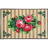 """Waschbare Fu�matte Country Roses - Rosen 50x75 cm Wash+Dryvon """"Kleentex"""""""