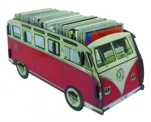 Werkhaus-Multibox-VW-Bus-Bulli-rotwei-Autobox-CD-Box-Ladestation