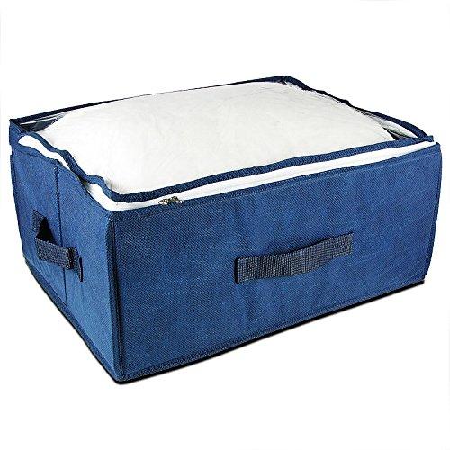 aufbewahrungsbox kleiderbox aus blauem vlies ean 4052025145453. Black Bedroom Furniture Sets. Home Design Ideas