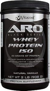 ARO-Vitacost Black Series Whey Protein Isolate Natural Vanilla -- 2 lb (908 g)