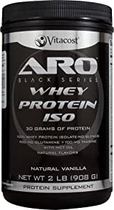 ARO-Vitacost Black Series Whey Protein Isolate Natural Vanilla -- 2 lb (908 g)