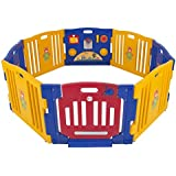 Best Choice Products® Baby Playpen Kids 8 Panel Safety Play Center Yard Home Indoor Outdoor New Pen - Blue