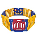Best Choice Products® Baby Playpen Kids 8 Panel Safety Play Center Yard Home Indoor Outdoor New Pen – Blue