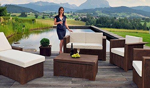 Gartentisch Holztisch Loungetisch Tisch Beistelltisch Gartenmöbel Lounge (Fichte - schwarzbraun)