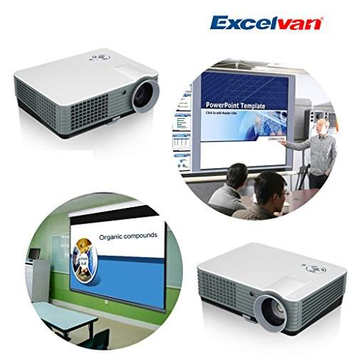 Excelvan 360 Degree Flip 2000 Lumens Multimedia Hd Home Theater/ Entertainment/ Business Lcd/Led Projector 50-140 Inch, Support 720P/1080P