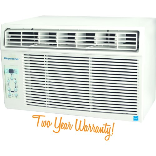 Keystone KSTAW08A Energy Star 8,000 BTU 115 Volt Window Mounted Air Conditioner with Follow Me LCD Remote Control