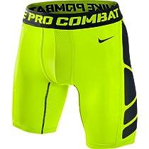 Nike Mens Hypercool Compression Six-Inch Short 1.2 - Medium - Volt/Black