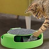 【 ねずみ を 捕まえろ 】 猫 じゃらし 器 円盤 型 運動 不足 ストレス 解消 おもちゃ 猫夢ちゅ~ 【I.T outlet】 MI-NEKOCHU (グリーン)