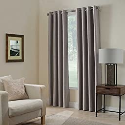 Gorgeous Home *DIFFERENT SOLID COLORS & SIZES* (#72) 1 PANEL SOLID THERMAL FOAM LINED BLACKOUT HEAVY THICK WINDOW CURTAIN DRAPES BRONZE GROMMETS (SILVER GRAY, 84\