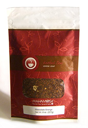Mahamosa Rooibos Herbal Tea and Tea Filter Set: 8 oz Chocolate Orange Rooibos (Red Bush) Tea, 100 Loose Leaf Tea Filters (Bundle- 2 items)(Tea ingredients: Rooibos tea, chocolate chips (sugar, ground cocoa beans with cocoa butter, powdered cocoa, emulsifying agent: soy lecithin), orange peel, flavoring, orange blossoms) (Bush Beans 8 Oz compare prices)