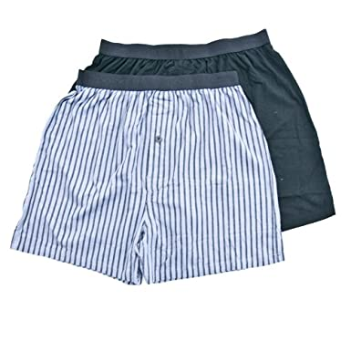 Dockers Men's Two Pack Stretch Boxer, Black, Small