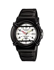 Casio Measures-Seconds Analog White Dial Men's Watch - HDA-600B-7BVDF (A509)