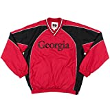 Mens Georgia Bulldogs Athletic College Pullover Jacket Medium Red at Amazon.com