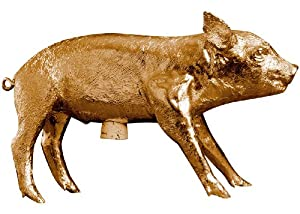 Areaware Bank in The Form of a Pig, Gold Chrome