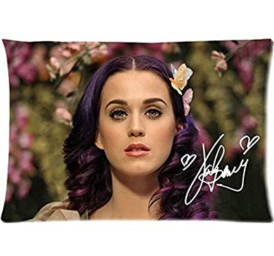 "Singer Katy Perry Pillow Case Covers Standard Size 16"" X 24"" (Two Sides)"