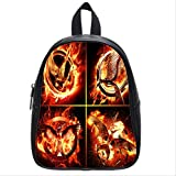 The Hunger Games Mockingjay Part Customized Design Personalized Stylish Backpack Bags Schoolbag Hiking Printing Backpack for Boys and Girls with Black Color